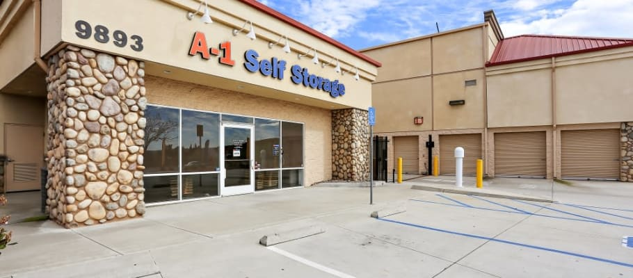 Wide driveways in front of A-1 Self Storage make unloading a breeze.