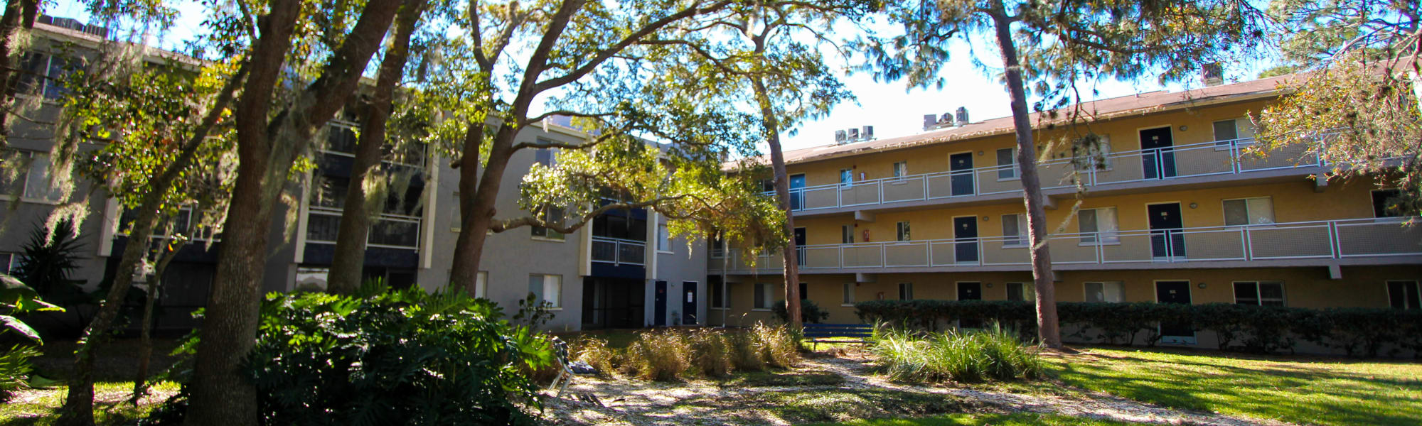 Exterior view of our apartments at Promenade at Edgewater in Dunedin, Florida
