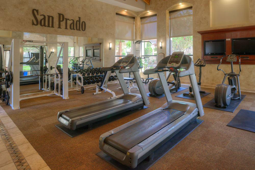 Modern fitness center at San Prado in Glendale, Arizona