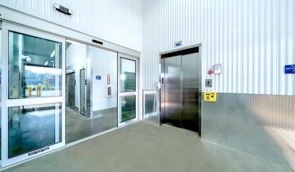 Elevator and unit entrance at Security Self-Storage
