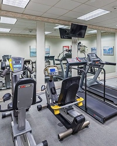 Fitness center at Maiden Bridge and Canongate Apartments in Pittsburgh