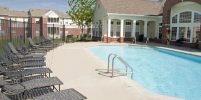 Swimming pool at apartments in Camby, Indiana