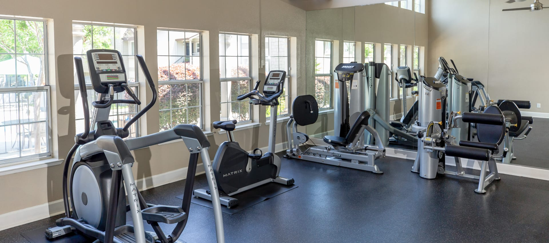 Resident fitness center at Shaliko in Rocklin, California.