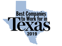 2019's Best Companies to Work For in Texas award for Olympus Property in Fort Worth, Texas