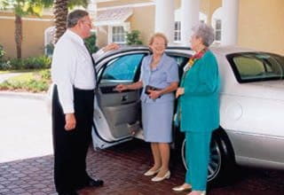Chauffeured transportation at Discovery Commons senior living communities