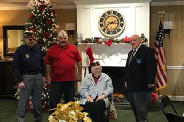 Resident named honorary 9th District Commander of the Pennsylvania American Legion at Arbour Square of Harleysville in Harleysville, Pennsylvania