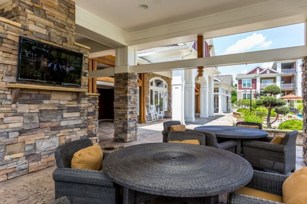 Clubhouse patio at Berkshire Fort Mill in Fort Mill, South Carolina