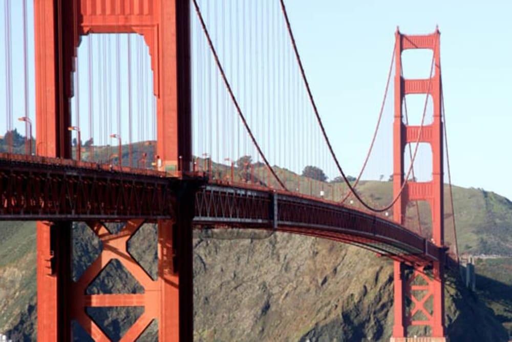 The bridge near Merrill Gardens at Rockridge in Oakland, California