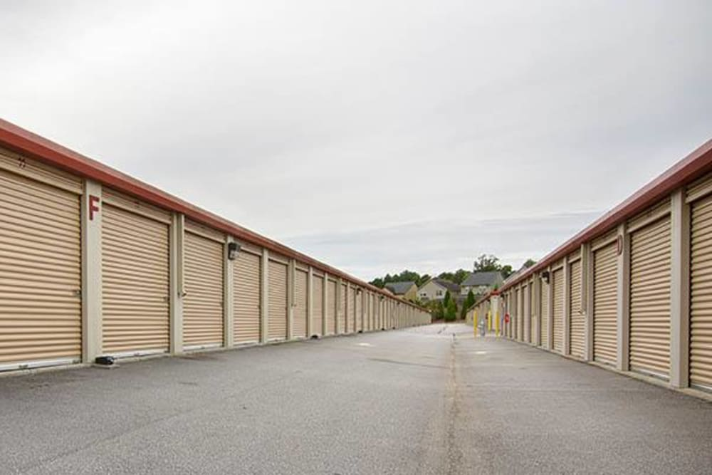 Outdoor units driveway at Metro Self Storage in Lawrenceville, Georgia