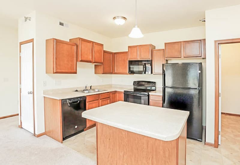 Bright kitchen at Johnston Heights in Johnston, Iowa