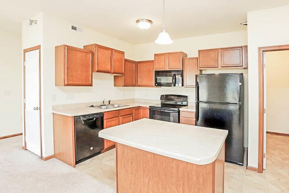 Bright kitchen at Johnston Heights in Johnston, Iowa