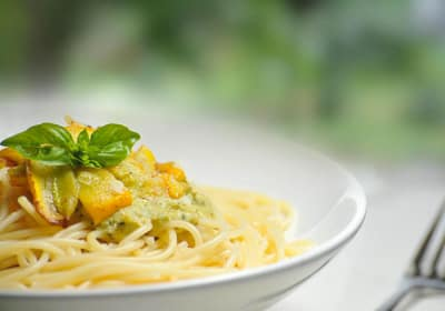 Delicious pasta dish prepared fresh at Mattison Crossing at Manalapan Avenue in Freehold, New Jersey