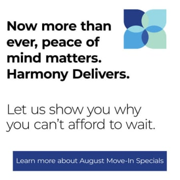 Now more than ever, peace of mind matters at The Harmony Collection at Roanoke - Memory Care
