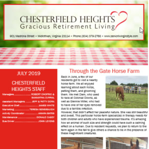 JulyChesterfield Heights Newsletter