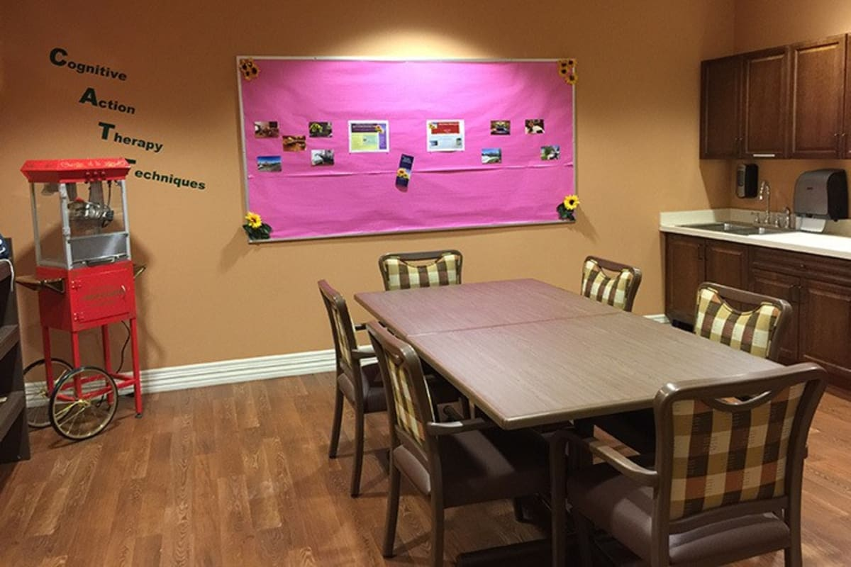 Game room at New Dawn Memory Care in Colorado Springs, Colorado
