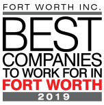 2019's Best Companies to Work For in Fort Worth award for Olympus Property in Fort Worth, Texas