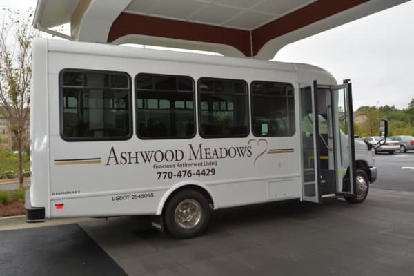 Community bus at Ashwood Meadows Gracious Retirement Living in Johns Creek, Georgia