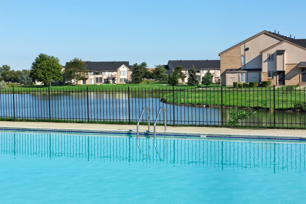 Lakeside pool at Lakeside Terraces in Sterling Heights, Michigan
