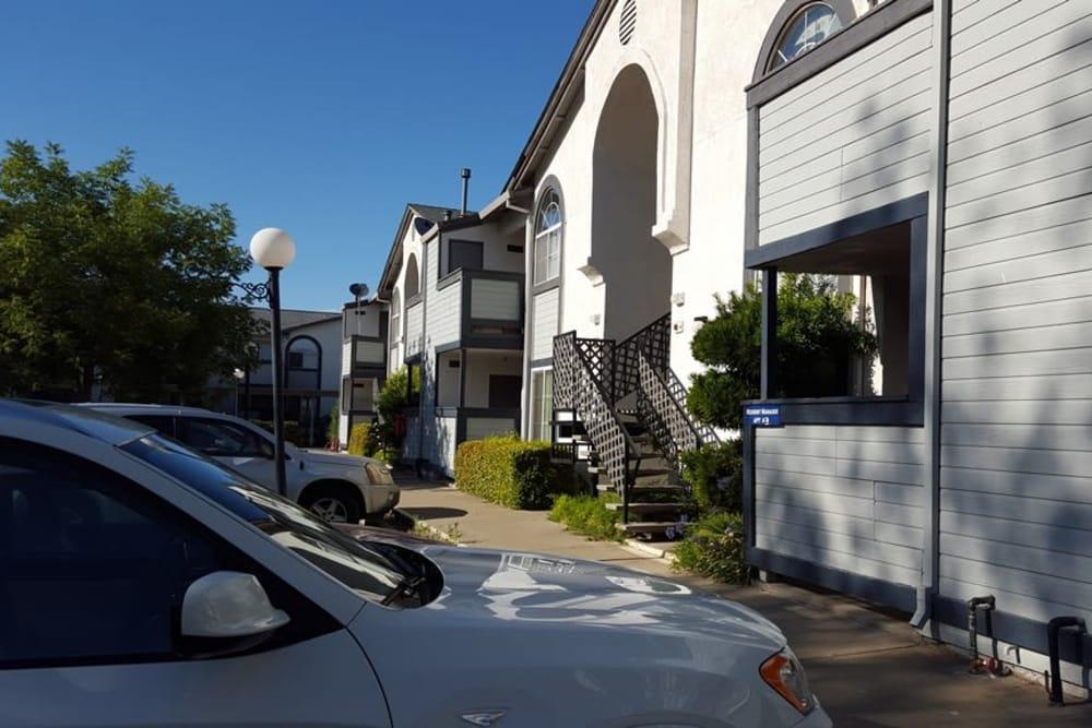 Parking at Wyda Garden Apartments in Sacramento, California