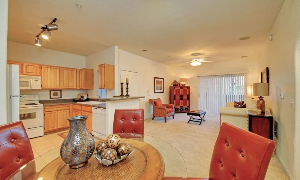 Spacious living room at Tresa at Arrowhead Apartments in Glendale, Arizona