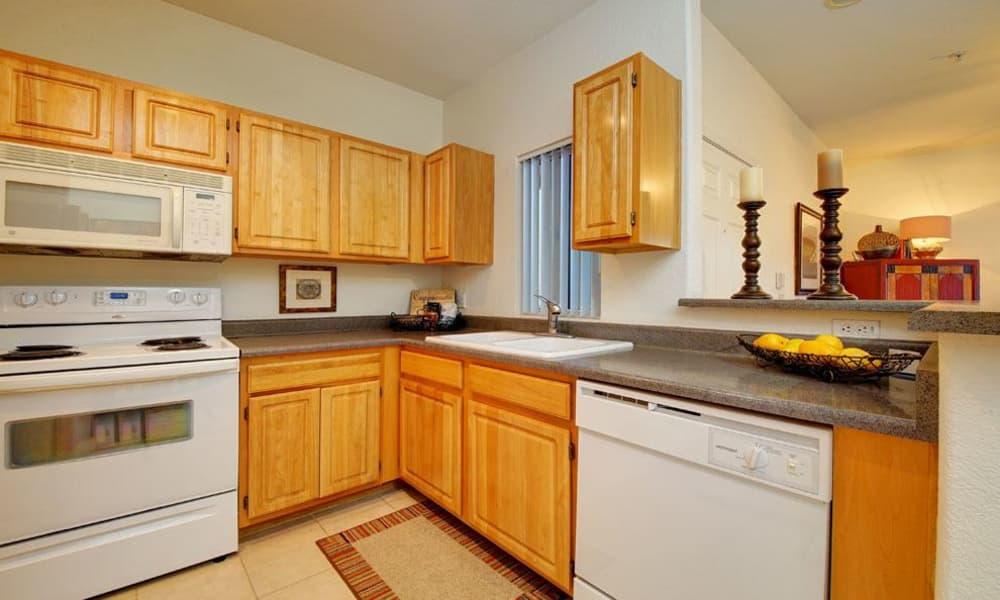 Modern kitchen at Tresa at Arrowhead Apartments in Glendale, Arizona