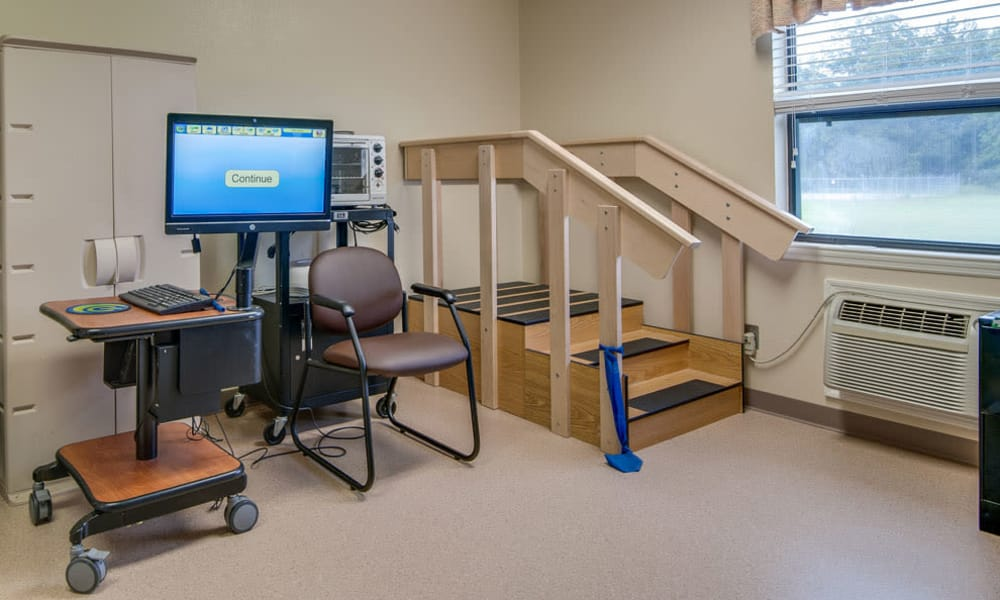 Rehabilitation room at Chaffee Nursing Center in Chaffee, Missouri