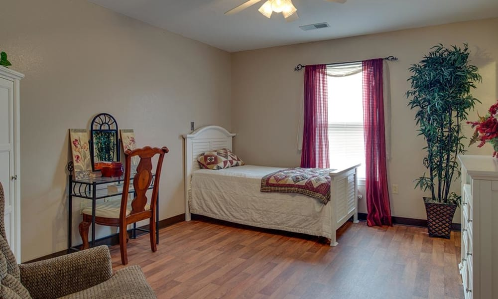 Cozy floor plan for assisted living residents at Victorian Place of Cuba Senior Living in Cuba, Missouri