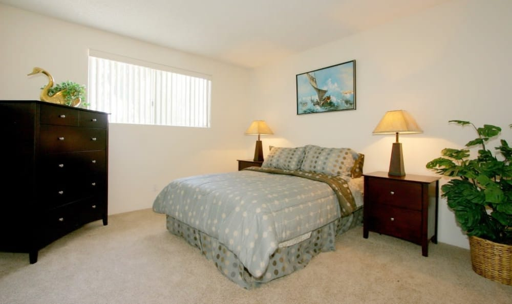 Comfortable bedroom in our Tarzana, CA apartments