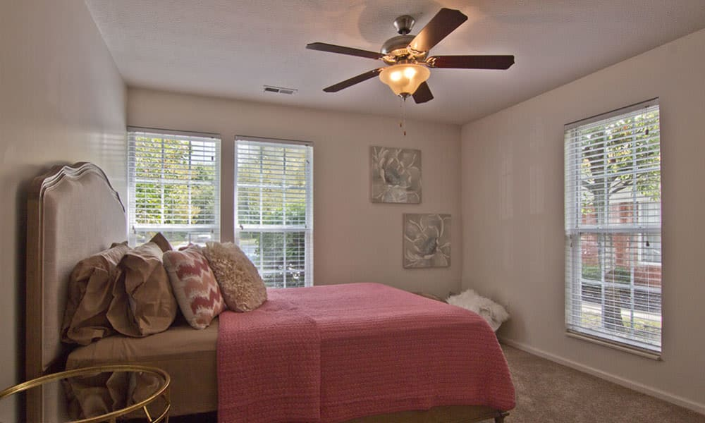 Comfortable bedroom in our Westerville, OH apartments