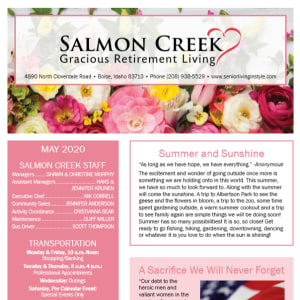 May Salmon Creek newsletter