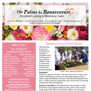 May The Palms at Bonaventure Assisted Living and Memory Care newsletter