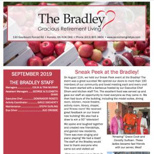 September The Bradley Gracious Retirement Living Newsletter