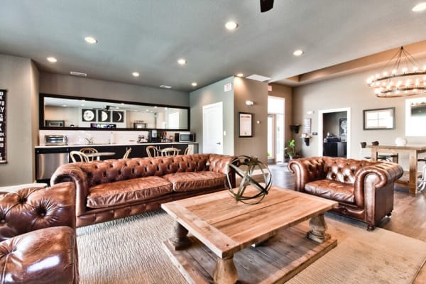 Modern resident clubhouse at Aventura at Mid Rivers in Saint Charles, Missouri.