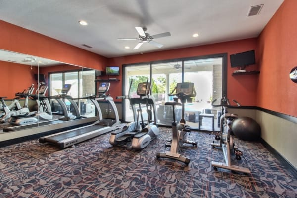 24-hour resident fitness center at Aventura at Mid Rivers in Saint Charles, Missouri.