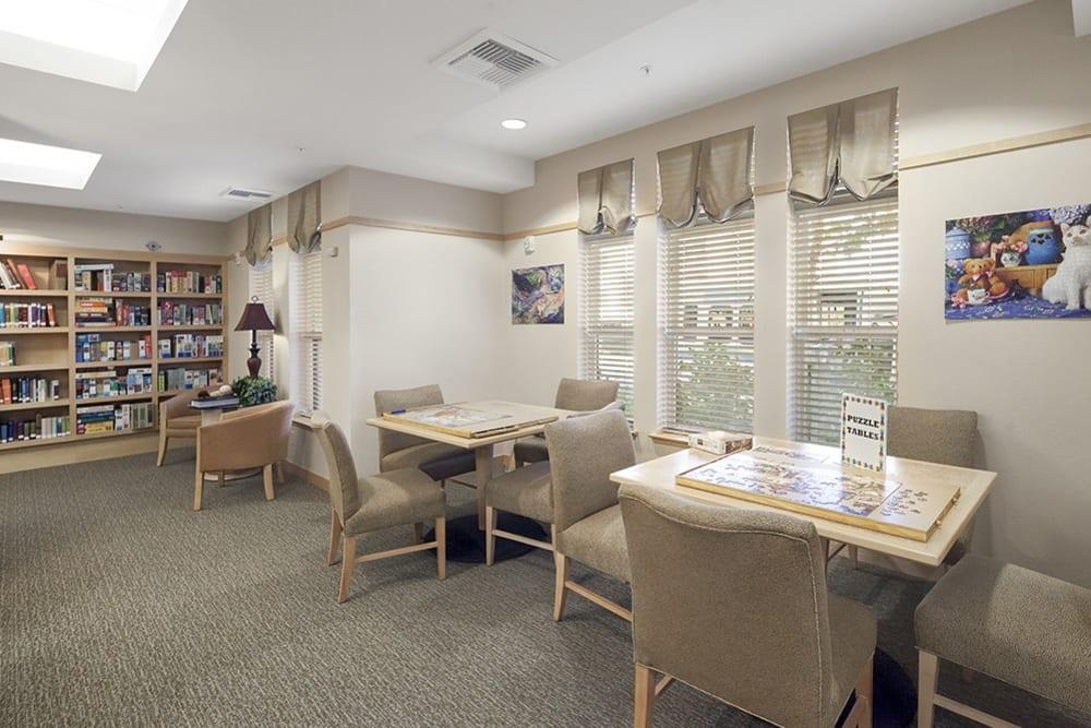 Activity room at Merrill Gardens at Willow Glen in San Jose, California.