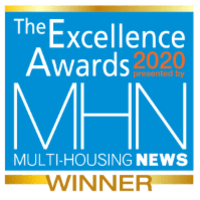 MHN Excellence award given to WRH Realty Services, Inc