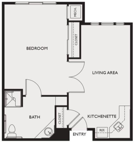 Assisted Living One Bedroom at Highland Glen in Highland, Utah