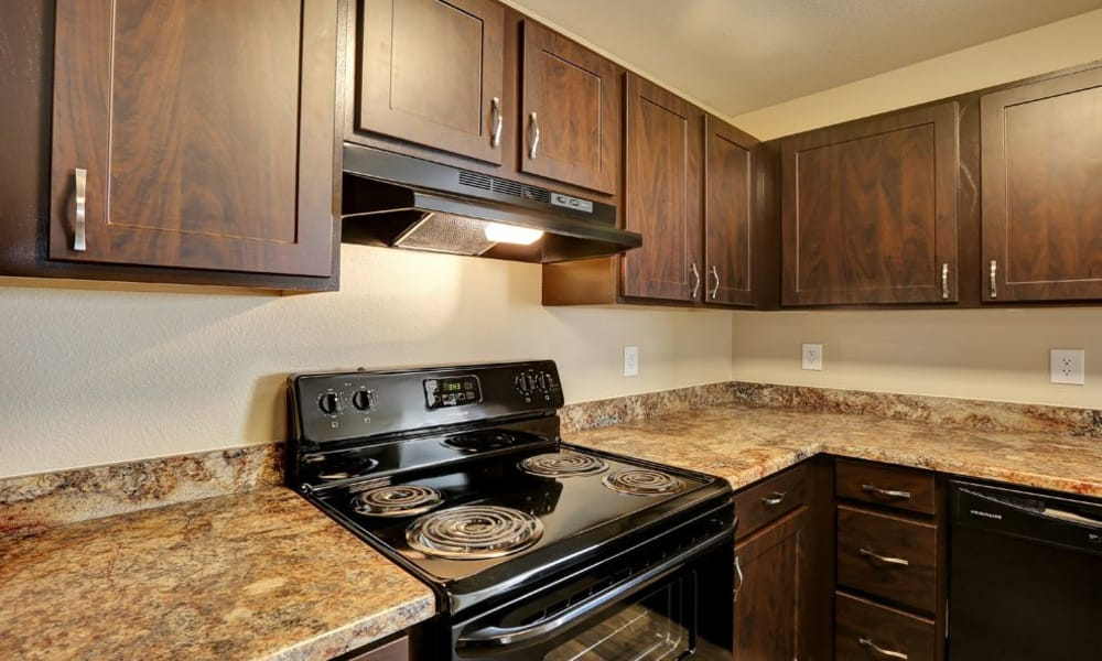 Luxury kitchen at Belle Creek Apartments in Henderson, Colorado