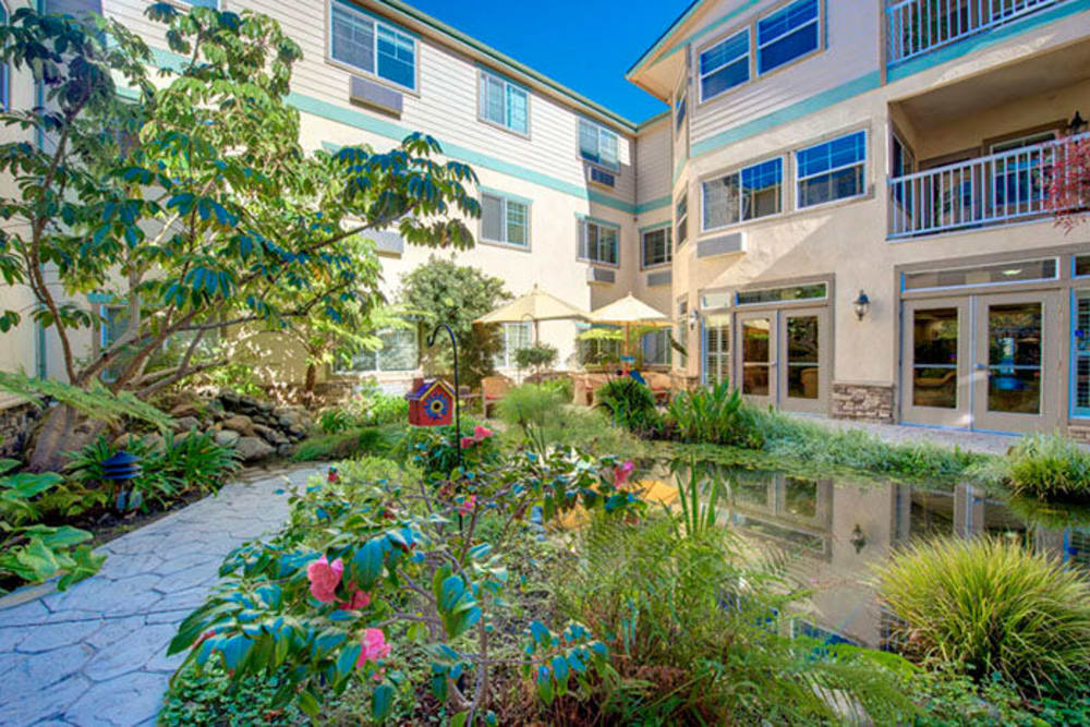 Courtyard at Cypress Place in Ventura, California