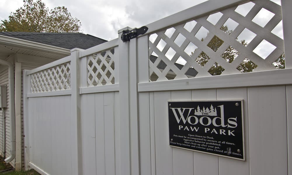 A dog park is onsite for your enjoyment at The Woods at Polaris Parkway