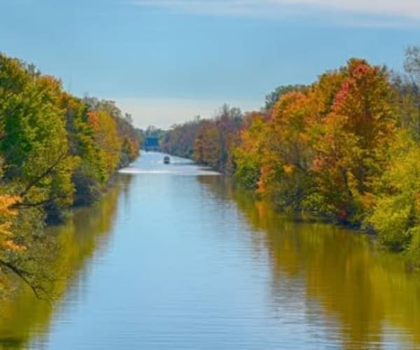 Erie Canal in Rochester, New York near Gateway Landing on the Canal