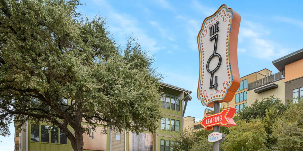 The 704's exterior in Austin, Texas