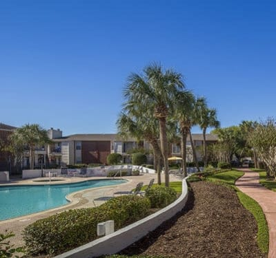 Stone Ridge Apartments poolside and walk path