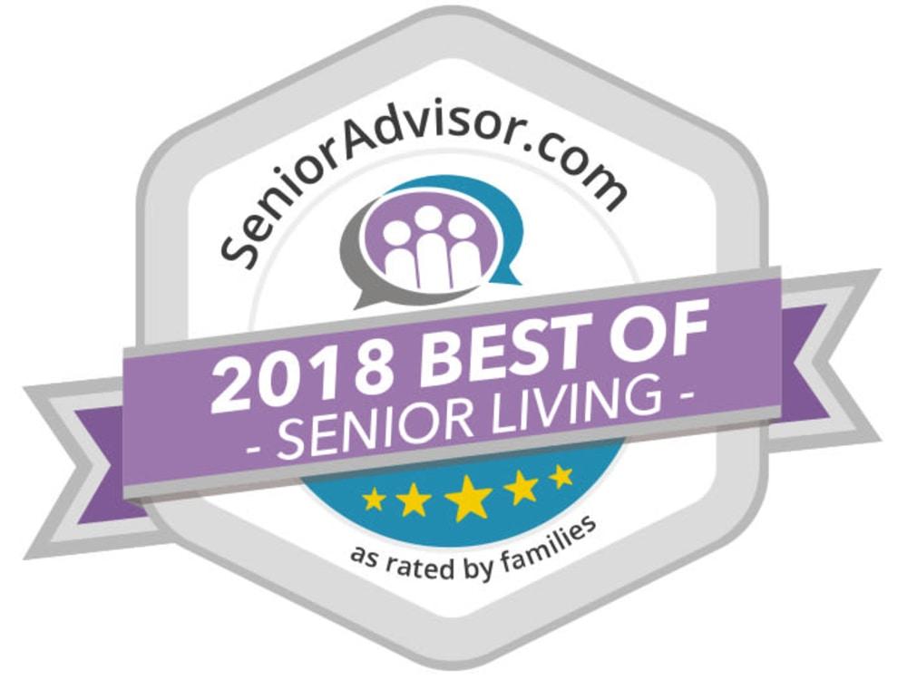 Senioradvisor.com 2018 Best of Senior Living Logo