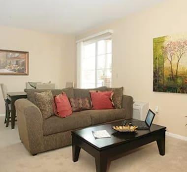 Senior apartment living space at Burr Ridge Senior Living in Burr Ridge, IL