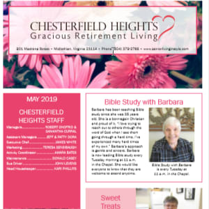 May Chesterfield Heights newsletter