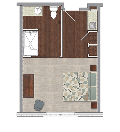 Private memory care apartment at Stonecrest at Burlington Creek