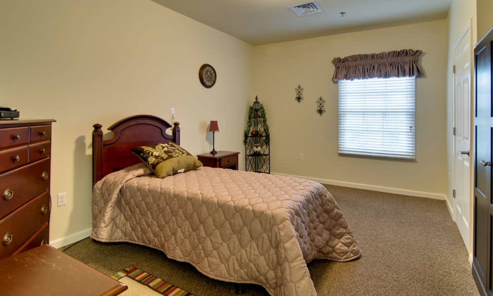 Cozy floor plan for assisted living residents at Schilling Gardens Senior Living in Collierville, Tennessee