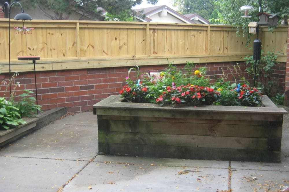Gardening box at Avalon Assisted Living Community