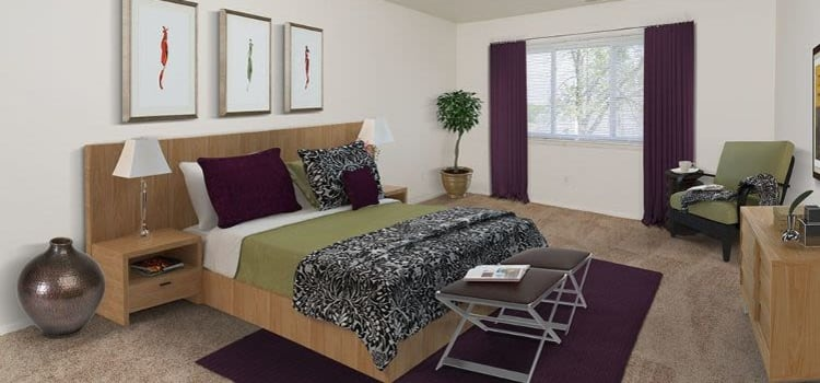 The Meadows Apartments offers a beautiful bedroom in Syracuse, New York